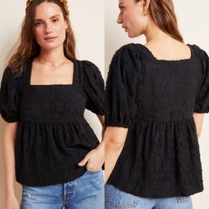 Anthropologie Maeve Batia Textured Babydoll Top XS